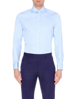 TED BAKER Lorath classic slim-fit cotton shirt