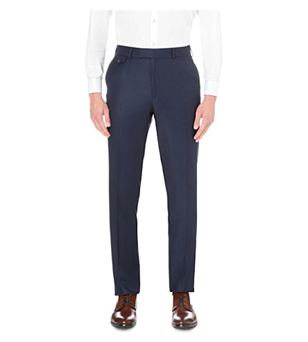 TED BAKER Birdseye wool suit trousers (Blue