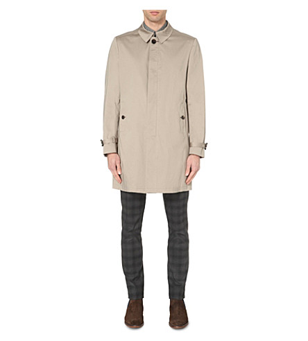 TED BAKER Endurance stretch-cotton mac (Natural