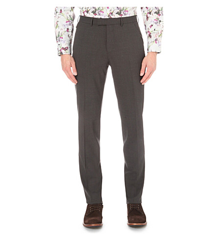 TED BAKER Cyctro commuter cycling suit stretch-wool trousers (Charcoal