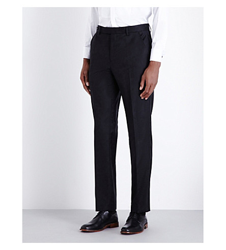 TED BAKER Pashion tapered floral-jacquard wool trousers