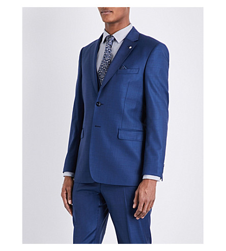 TED BAKER Pitchj Debonair wool jacket (Blue
