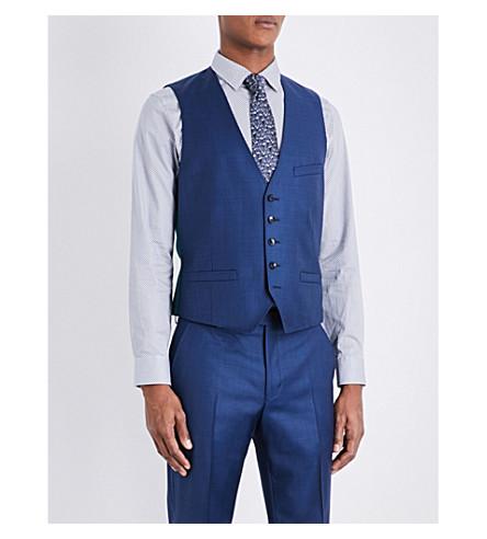 TED BAKER Pitchw Debonair wool waistcoat (Blue