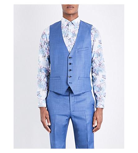 TED BAKER Pitchw Debonair wool waistcoat (Light blue