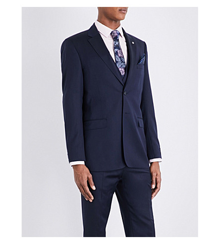 TED BAKER Raisej Debonair wool jacket (Dark+blue