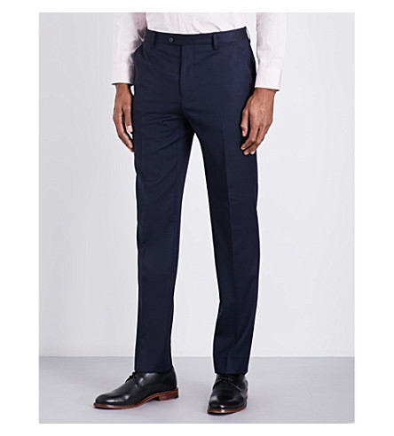 TED BAKER Raiset Debonair wool trousers (Dark+blue