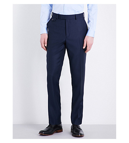 TED BAKER Tamlat classic-fit wool trousers (Blue
