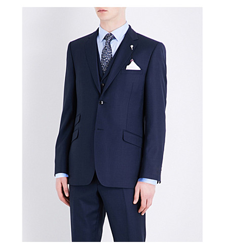 TED BAKER Tamlaj regular-fit wool jacket (Blue