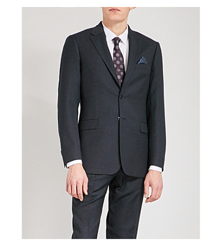 TED BAKER Pipvelj modern-fit wool jacket (Navy