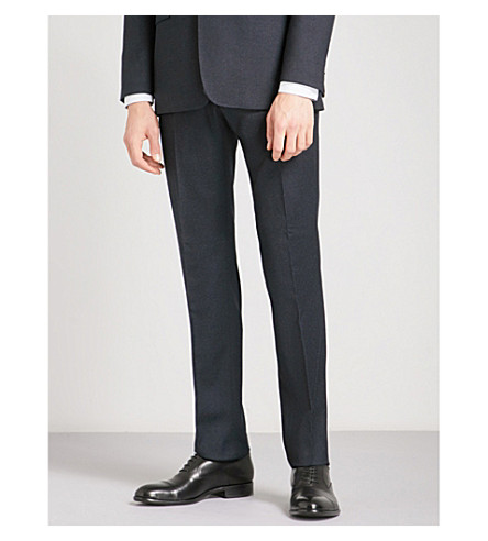TED BAKER Pipvelt modern-fit mid-rise wool trousers (Navy