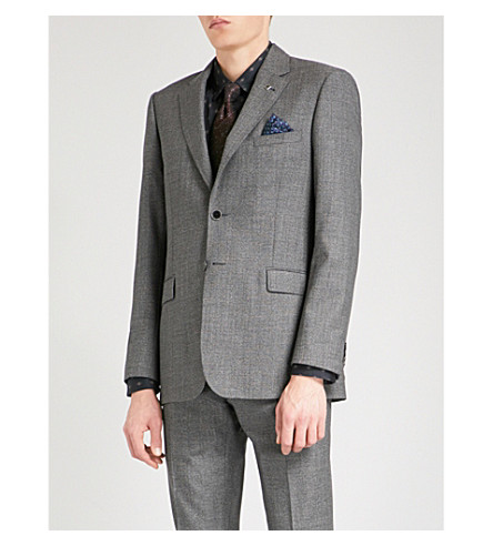 TED BAKER Kaspaj modern-fit wool jacket (Grey