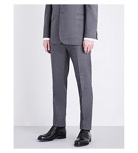 TED BAKER 温文尔雅的摩登版型羊毛裤子 (灰色