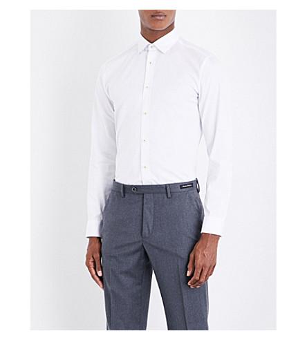TED BAKER Chyla 摩登版型棉衬衫 (白色