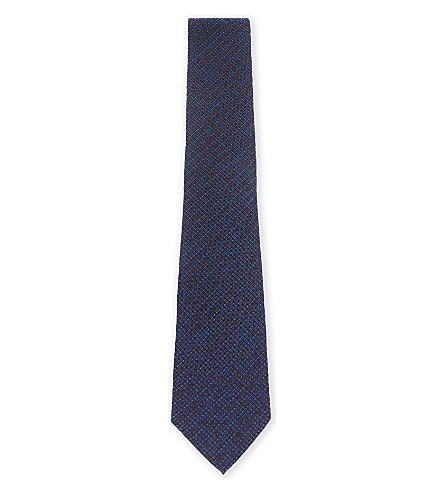 TED BAKER Knitted tie (Blue