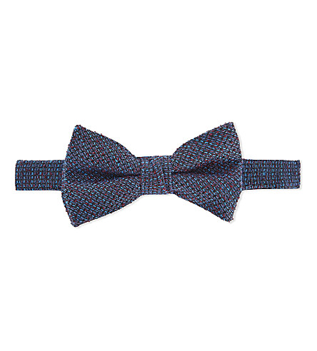TED BAKER Tulbow textured bowtie (Blue