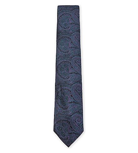 TED BAKER Paisley silk tie (Pink