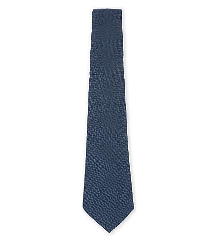 TED BAKER Weipa zig-zag silk tie (Blue