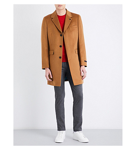 TED BAKER Dolston wool and cashmere-blend coat (Camel
