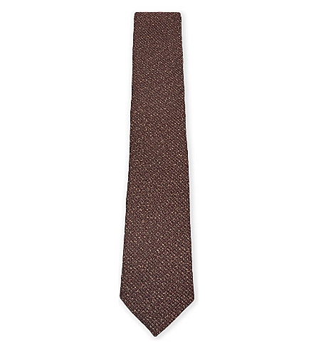 TED BAKER Knitted tie (Purple
