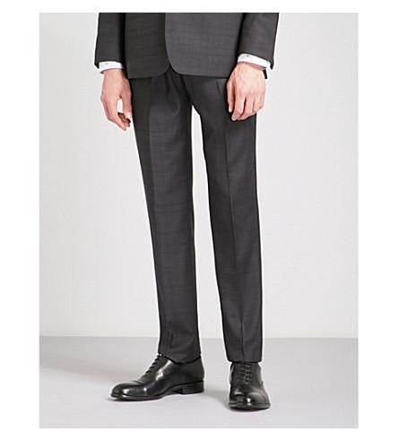 TED BAKER Concort 摩登版型方格羊毛裤子 (紫色