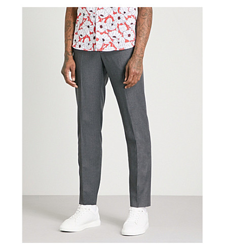 TED BAKER Debonair modern-fit wool trousers (Grey