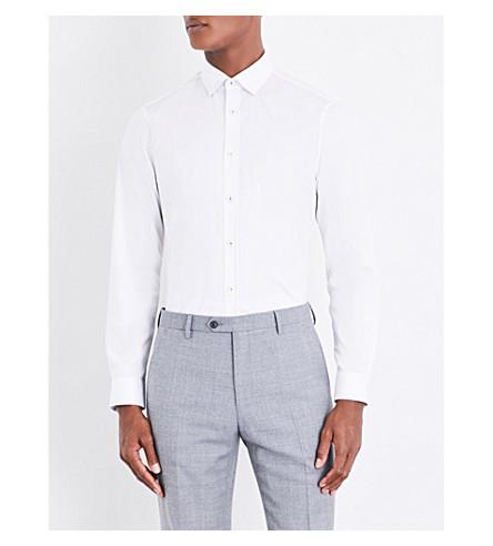 TED BAKER Chhyna 经典版型棉衬衫 (白色