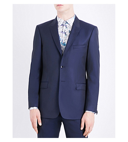 TED BAKER Debonair wool jacket (Navy