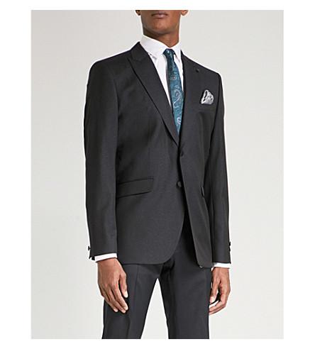 TED BAKER Pashion metallic-stripe regular-fit wool jacket (Navy