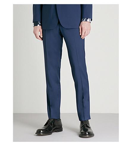 TED BAKER Castlet Debonair modern-fit wool trousers (Navy