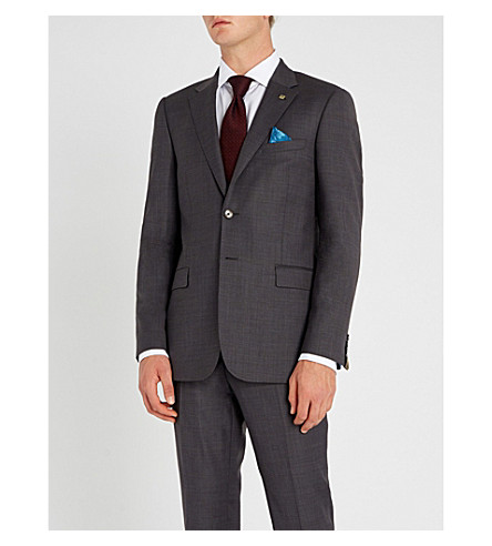 TED BAKER Phormal Debonair modern-fit wool jacket (Charcoal