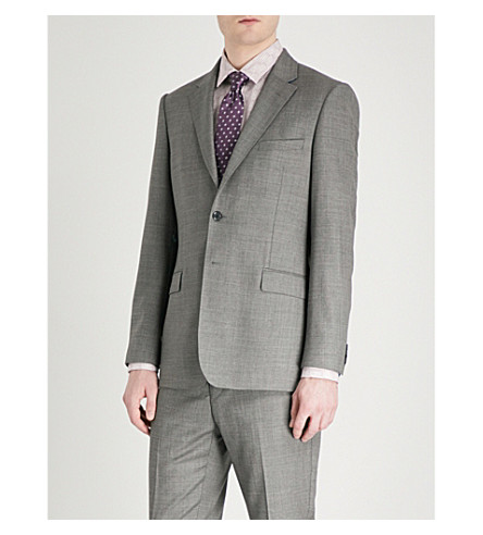 TED BAKER Mahonej Debonair modern-fit wool jacket (Grey