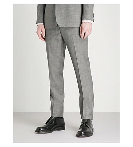 TED BAKER Strongt Debonair modern-fit wool trousers (Grey