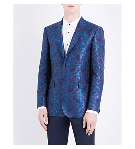 TED BAKER Pashion paisley jacquard jacket (Teal