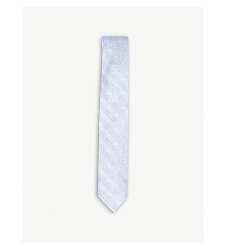 TED BAKER Coastl subtle check silk tie (Blue