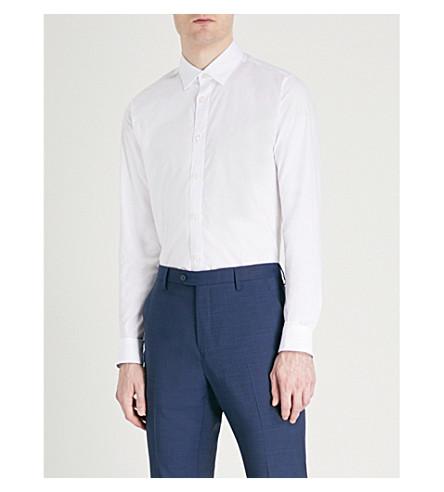 corte jacquard BAKER Camisa floral de moderno de con TED diseño algodón Blanco en zXqpnxwpWa