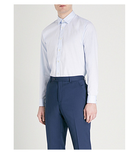 TED BAKER Romeio mofern-fit stretch-cotton shirt (Blue
