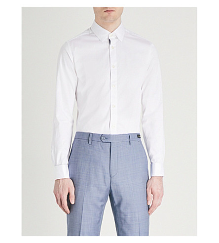 TED BAKER Fomeio fashion-fit stretch-cotton shirt (White