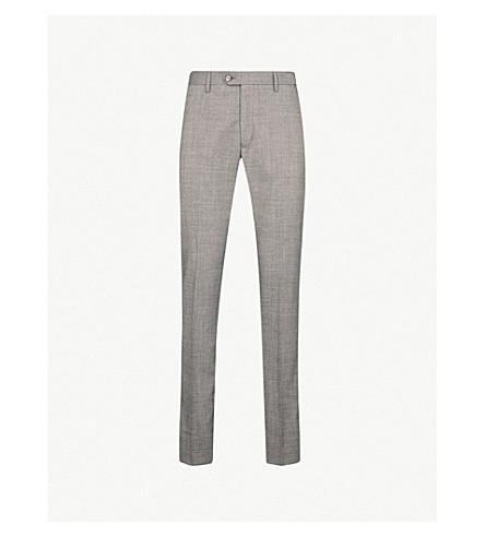 TED BAKER Debonair modern-fit wool trousers (Light+grey