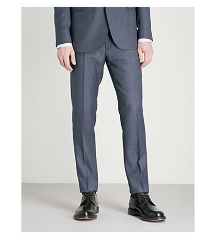TED BAKER Kindebt birdeye-patterned modern-fit wool trousers (Blue