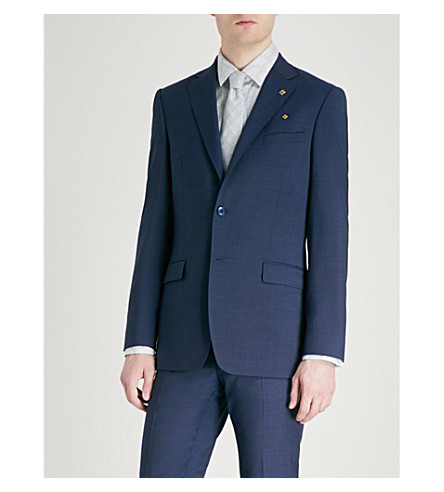 TED BAKER Debonair fashion-fit wool jacket Blue New Styles For Sale Latest Collections Cheap Price 2018 Unisex Cheap Sale Visit New Free Shipping The Cheapest dT7oSo12Z