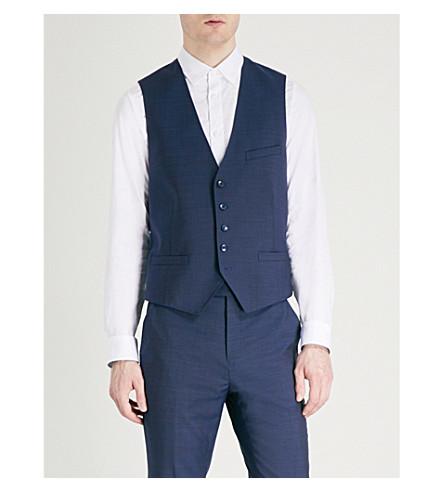 TED BAKER Palacew Debonair Plain wool waistcoat (Blue