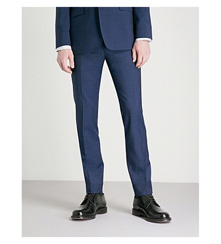 BAKER Debonair TED fit fashion trousers BAKER Blue wool TED qFECwnO