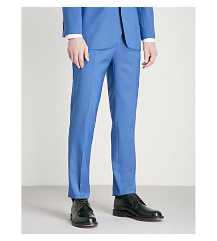 TED BAKER Debonair modern-fit wool trousers (Mid+blue