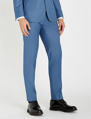 538c1dc0f TED BAKER - Debonair checked modern-fit wool and cashmere-blend ...