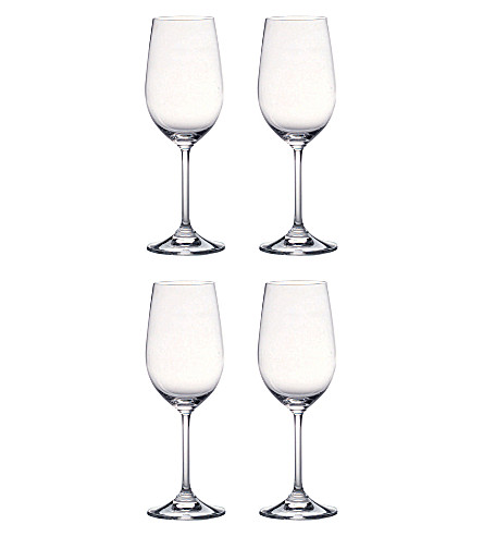 WATERFORD Vintage set of four white wine glasses