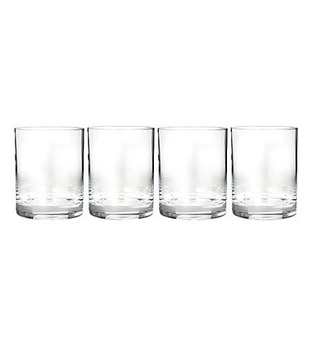 WATERFORD 复古水晶玻璃杯眼镜套四