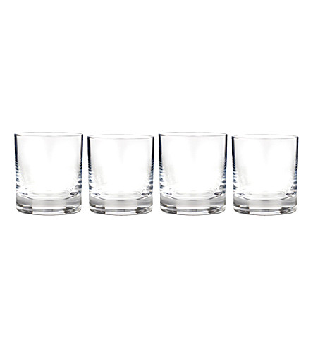 WATERFORD Vintage crystal tumbler glassses 9oz set of four