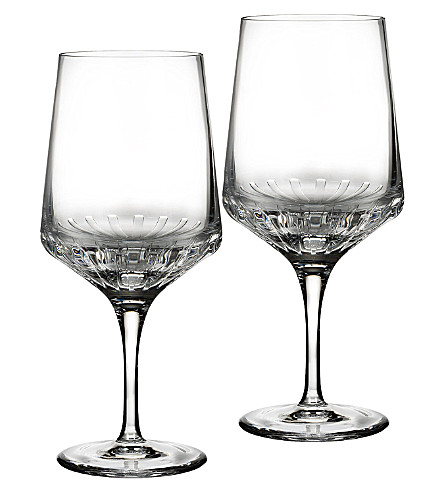 JOHN ROCHA @ WATERFORD Ori goblet pair
