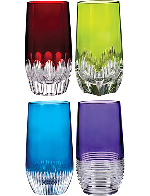 WATERFORD Mixology coloured hi balls set of four