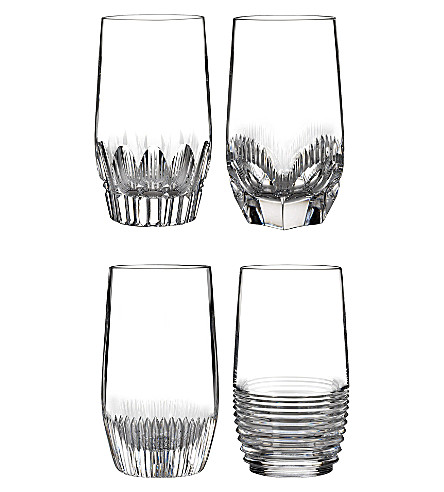 WATERFORD Mixology clear hi balls set of four